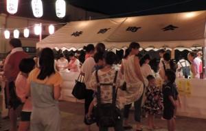 盆踊りの様子(峰町)