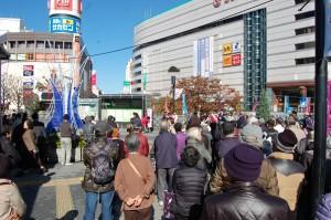 おくだ智子 川口駅前で第一声(2)